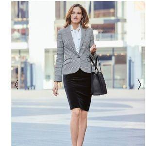 NWT White House Black Market Velvet Pencil Skirt